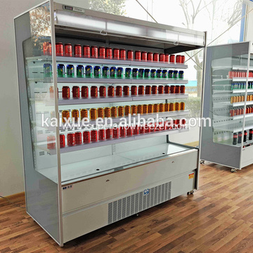 supermarket refrigerator display vegetable chiller