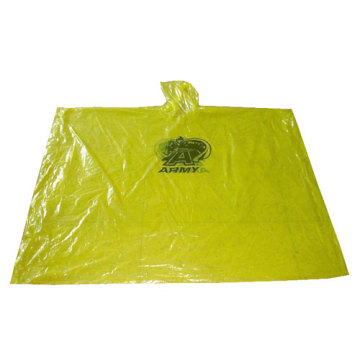 Yellow Disposable Poncho