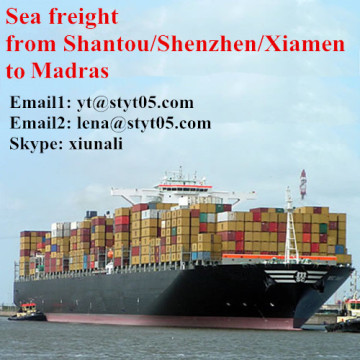 Sea freight shipping container from Shantou to Madras