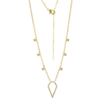 Sterling Silver Gold Plated Drop Necklace