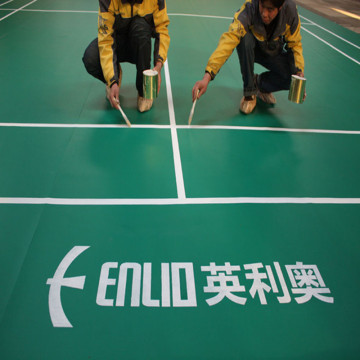 Indoor PVC badminton floor with crystal sand pattern