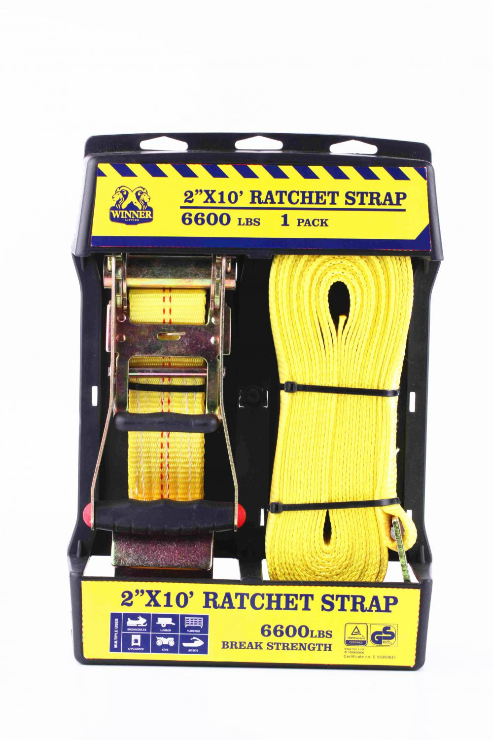 GS Approved Ratchet Buckle Cargo Strap With Plastic handle
