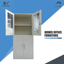 Glass door steel office file storage cabinet