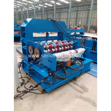 Automatic aluminum roof sheet metal curving machine