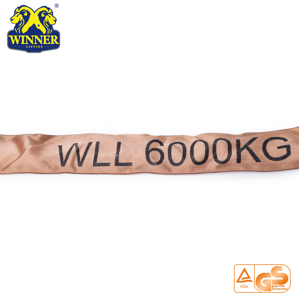 6 Ton Strength Lifting Lashing Endless Polyester Round Sling