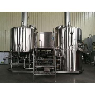 Space saving bar brewery system steam-heated brewhouse