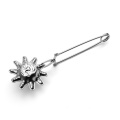 Stainless steel moon/star/sun shaped handle tea infuser