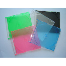 5.2mm Slim Jewel CD Case with Color Tray, Made of PS, Measures 142 x 124 x 5.2mm New