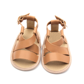 Brown And Black Baby Sandals