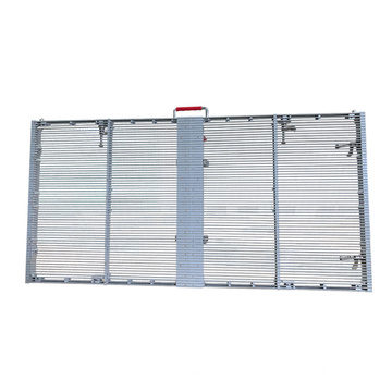 Low power consumption outdoor transparent led screen