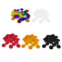 100pcs Poker Chips Coins Solid Color Casino Supply Family Games Accs