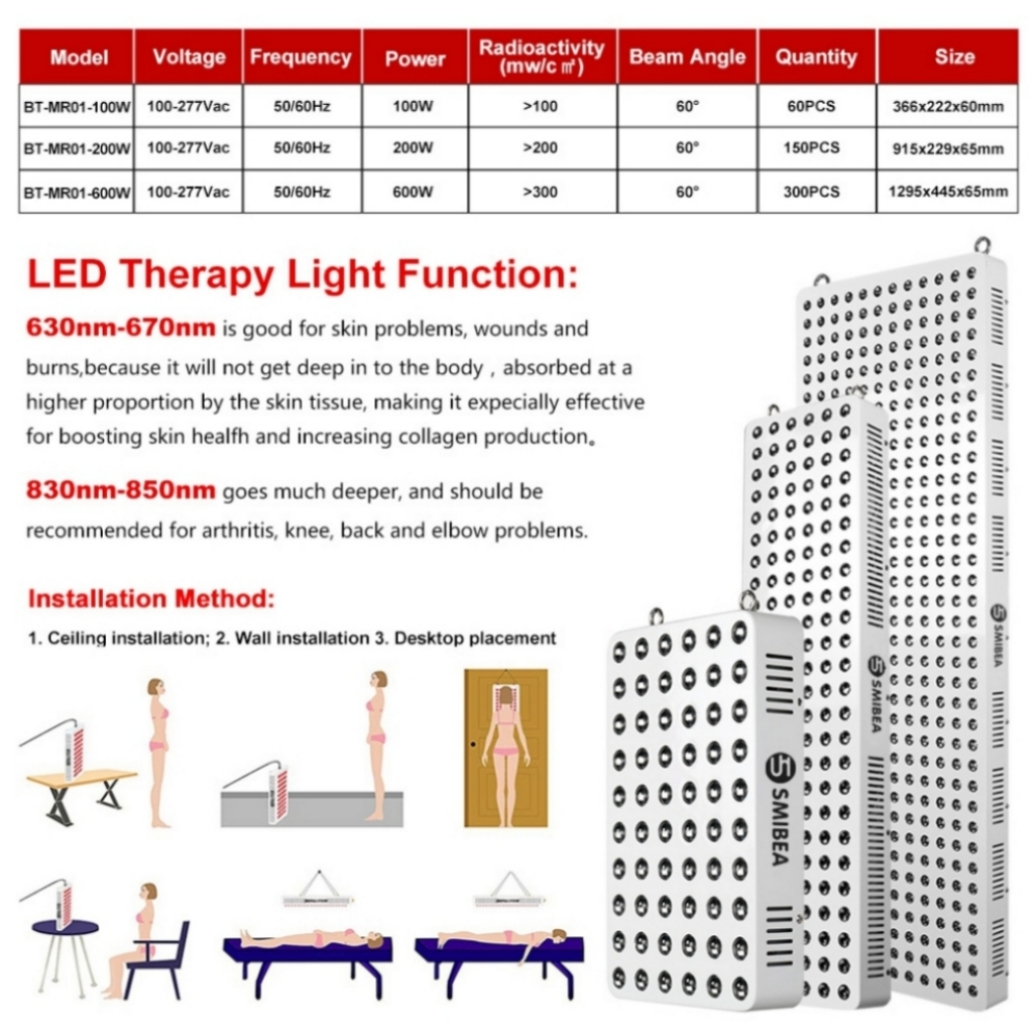 660 850nm Red And Infrared Light Physical Therapy