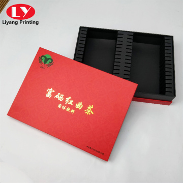 Red solid drink and tea packaging box