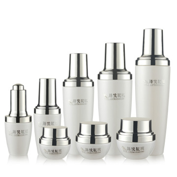 Cosmetics transparent glass bottle skin care package