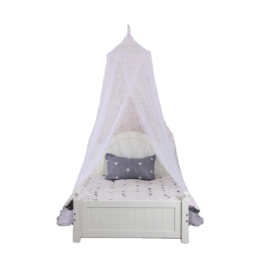 White dome mosquito net for children's room