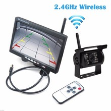 """2.4G Wifi Wireless Car Backup Cameras IR Night Waterproof with 7"""" Car Rear View Monitor for RV Truck Bus Parking Assistance"""
