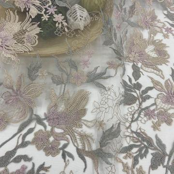 Liscio Light-colored Inflorescence Embroidery Fabric