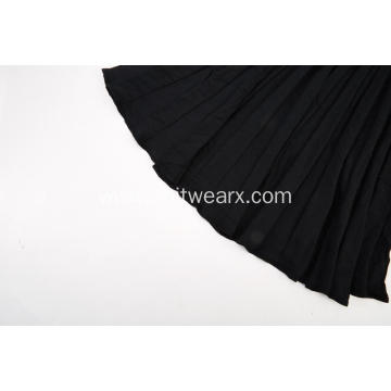 Women's Knitted Elastic Waist Texture Pleated Skirt
