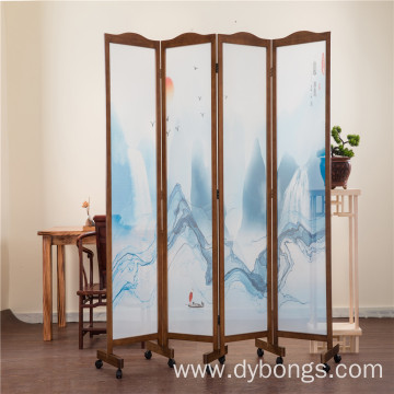 New living room Screen Folding Simple Wood Screen