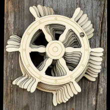Wooden Ships Wheel Craft Shapes Plywood