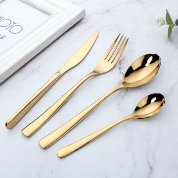 Wholesale Gold Plated Stainless Steel Cutlery Set
