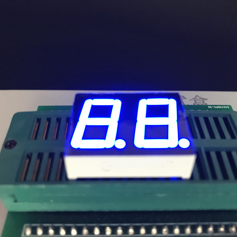 10pcs Blue 0.56 inch 2Bit 7 Segment LED Display dynamic state Digital Tube Plastic Metal Common Cathode/ Anode