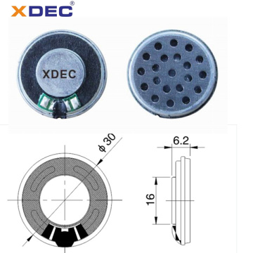 Flat Surface Design 32ohm 20mw 30mm Headset Speaker