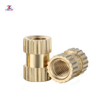m1.6  compressed knurled  brass insert nut