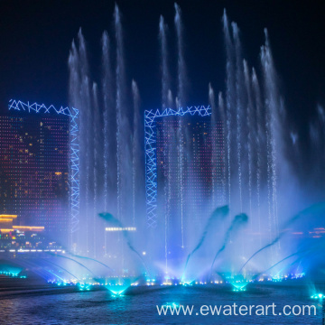 water screen movie fountain