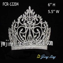 Full Round Rhinestone Beauty Queen Crowns