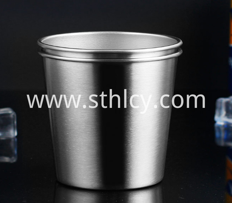 stainless steel drinking mug