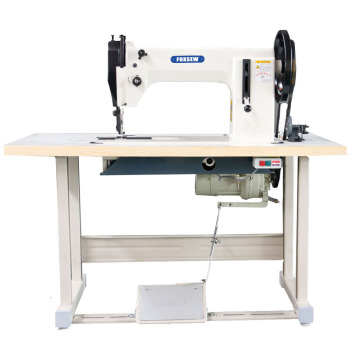 Double needle Heavy Duty Top and Bottom Feed Sewing Machine