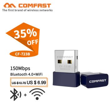 Comfast CF-723B Mini USB WiFi Adapter 150Mbps Wi-Fi dongle receiver PC Network Card bluetooth 4.0 USB Ethernet WiFi adapter ap