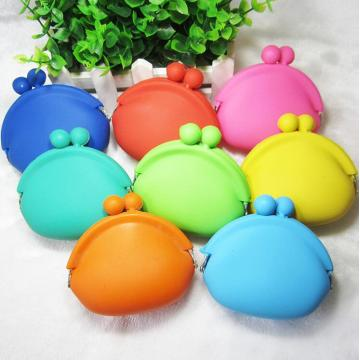 Silicone Wallet Coin Purse Round Bags Cute Candy Color