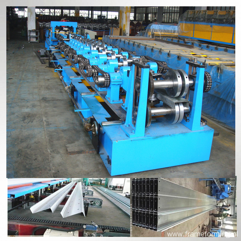 C Z exchangeable purlin roll forming machine