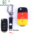 Silicone Car Key Cover bakeng sa Volkswagen Polo