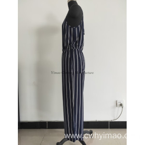 Lady fashionable stripe suit spring