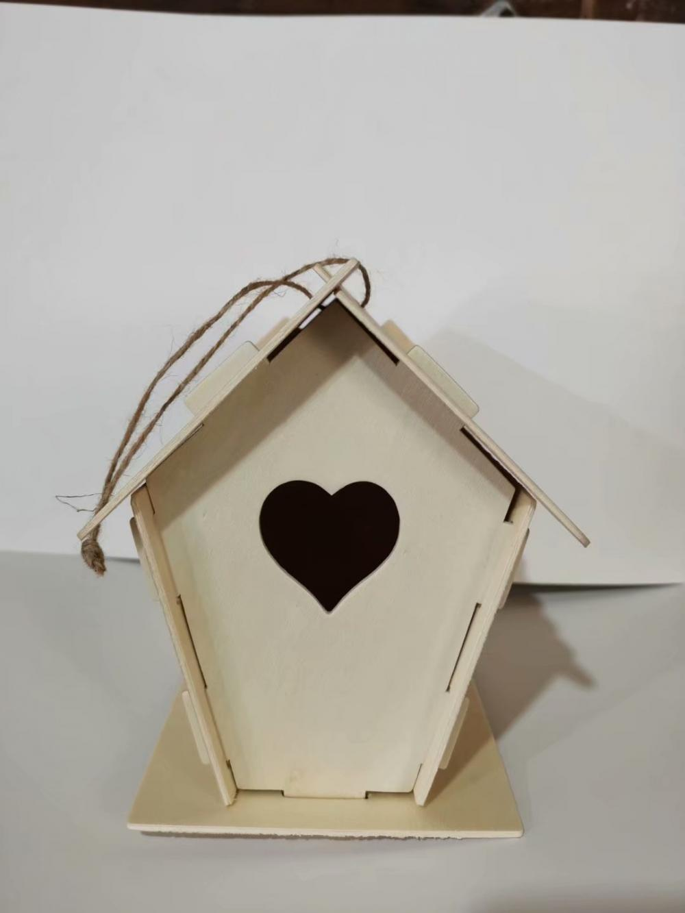 outdoor wooden bird house