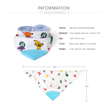 FDA silicone baby teething bibs