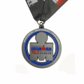Custom price silver metal alloy enamel medal