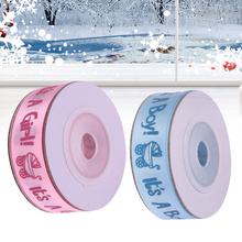 10Yards/Roll IT'S A BOY/GIRL Satin Ribbons Favors Ribbon for Kids Baby Birthday Party Supplies Baby Shower Decoration