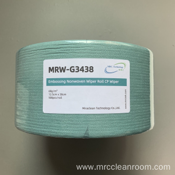 Green Spunlaced Cellulose Polyester Roll