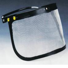 Metal Mesh Face Shield for Fit on Helmet