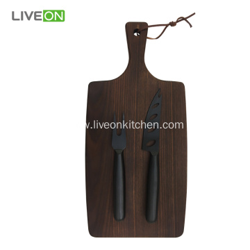 Ash Wood Cutting Cheese Knife Set