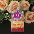 Number Shaped Crown Birthday Party Candles
