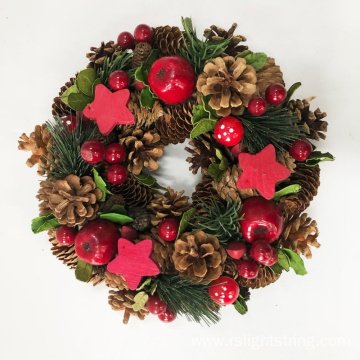 Wholesale Christmas Nature Pine Cone Wreath Decoration
