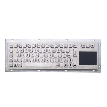 Stainless Steel Metal Keyboard with Touchpad
