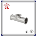 Sanitary Stainless Steel Clamped Equal Tee