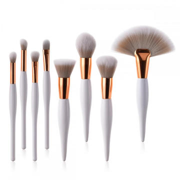 Private label White gold professional Oval makeup brushes
