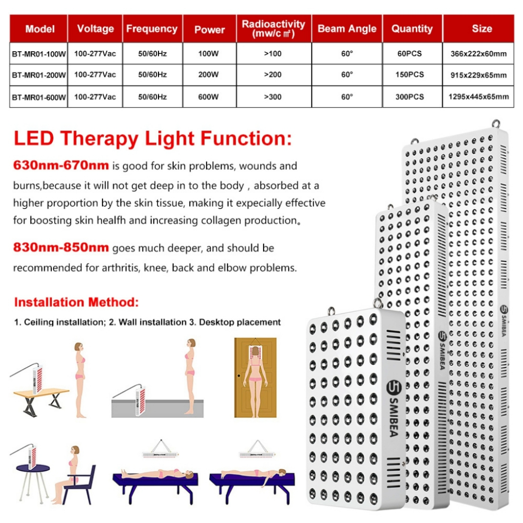 100watt Touch Led Light Therapy Lamp